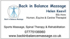 Back In Balance Massage Logo