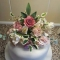 Handmade sugar flowers cake topper