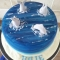 Dolphin lovers birthday cake